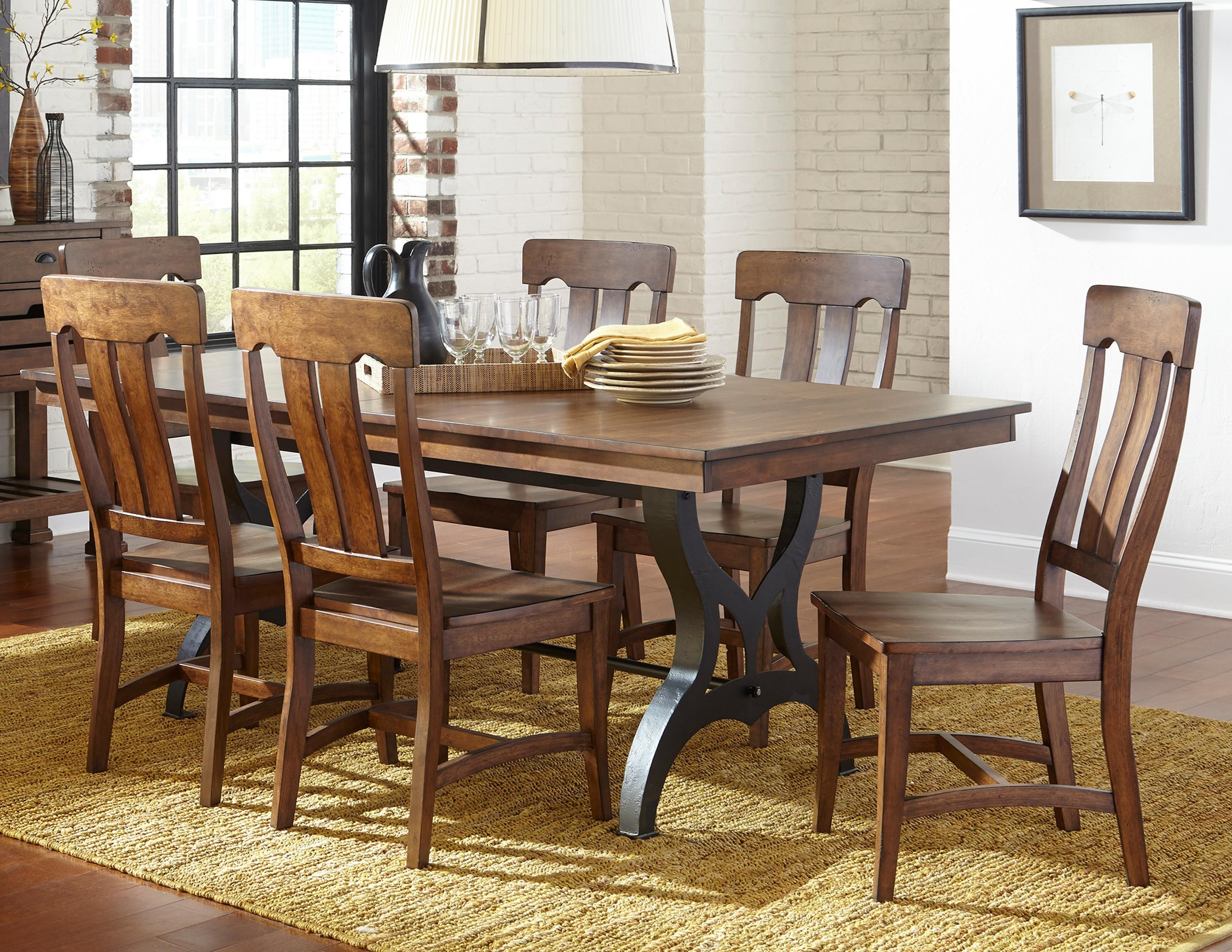 Intercon The District 5 Piece Table u0026 Chair Set with Leaf - Item Number DT & Intercon The District 5 Piece Table u0026 Chair Set with Leaf | Wayside ...