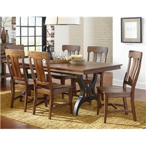 5 Piece Table & Chair Set with Leaf