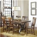 Intercon The District 5 Piece Dining Set - Item Number: DT-TA-4296-TOP+BSE+4xCH-645C-RTA