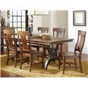 Intercon The District 5 Piece Table & Chair Set with Leaf - Item Number: DT-TA-4296-TOP+BSE+4xCH-645C-RTA