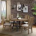 Intercon Urban Rustic  5 Piece Table and Chair Set - Item Number: UR-TA-4848R-BWH-C+4XCH-460C-BWH-RTA