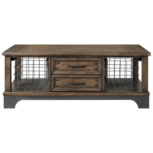 Rustic Cocktail Table with 2 Drawers