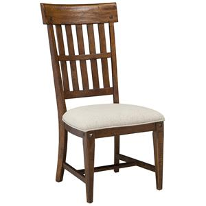 Intercon Wolf Creek Slat Back Side Chair with Cushion