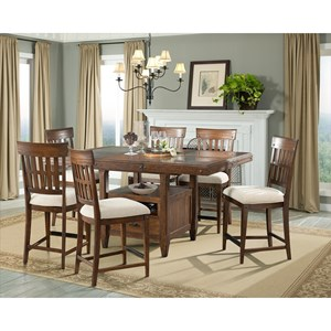 Intercon Wolf Creek Gathering Height Dining Set