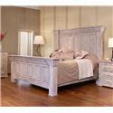 International Furniture Direct 1022 Terra White King Panel Bed - Item Number: IFD1022 KG PNL BD