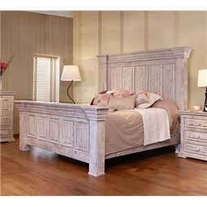 International Furniture Direct 1022 Terra White Queen Panel Bed