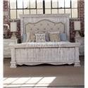 International Furniture Direct 1022 Terra White King Bed - Item Number: IFD1024 KG UPH BD
