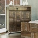 International Furniture Direct Queretaro Rustic Solid Wood 3 Drawer and 1 Door Media Chest