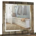 International Furniture Direct Queretaro Mirror - Item Number: IFD220MIRR