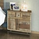 International Furniture Direct Queretaro Rustic Solid Wood 1 Drawer and 2 Door Nightstand