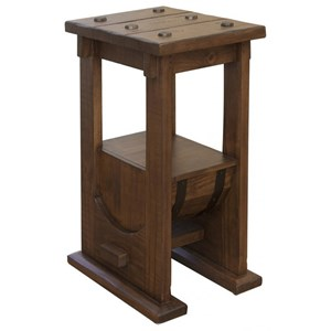 Barrel Chairside Table