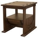 International Furniture Direct Bourbon Barrel End Table - Item Number: IFD349END