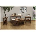 International Furniture Direct Bourbon Solid Pine Barrel End Table