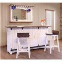 International Furniture Direct Pueblo 3Pc Dining Set - Item Number: 3P2346049