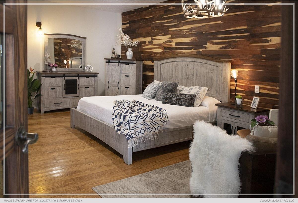 Morelia Gray 4 Piece King Bedroom at Ruby Gordon Home
