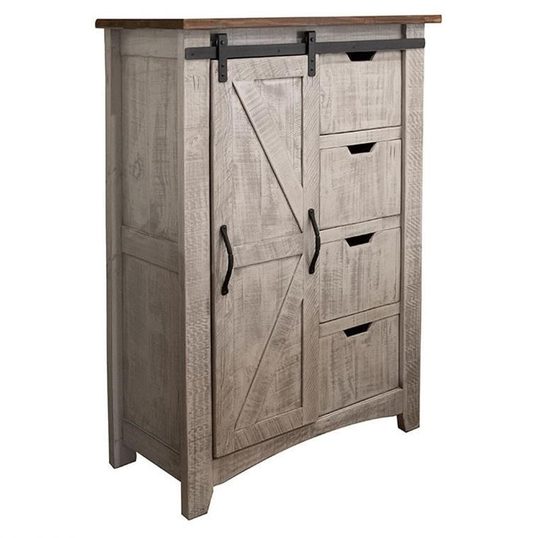Pueblo Chest with 4 Drawers and 1 Door by International Furniture Direct at Catalog Outlet