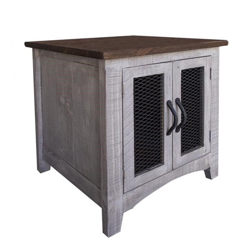 Pueblo End Table with 2 Doors at Sadler's Home Furnishings