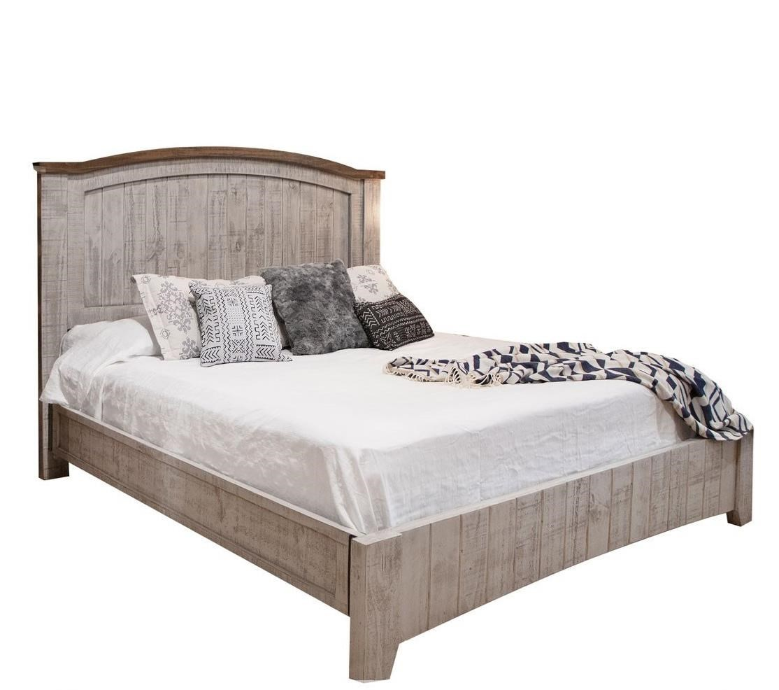 Pueblo Queen Bed by International Furniture Direct at Godby Home Furnishings