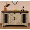 "International Furniture Direct Pueblo 60"" TV Stand with 4 Doors - Item Number: IFD3401STN60"