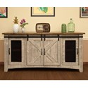 "International Furniture Direct Pueblo 70"" TV Stand with 4 Doors - Item Number: IFD3401STN70"