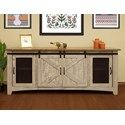 "International Furniture Direct Pueblo 80"" TV Stand with 4 Doors - Item Number: IFD3401STN80"