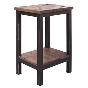 International Furniture Direct 359 Pueblo Chairside Table