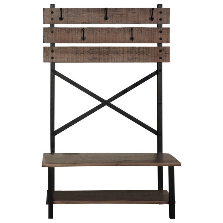 International Furniture Direct Pueblo Hall Tree - Item Number: IFD359HALL-T