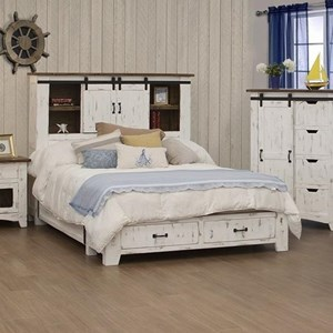 International Furniture Direct Pueblo 5/0 Storage Bed