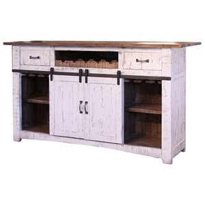 International Furniture Direct Pueblo Wooden Bar