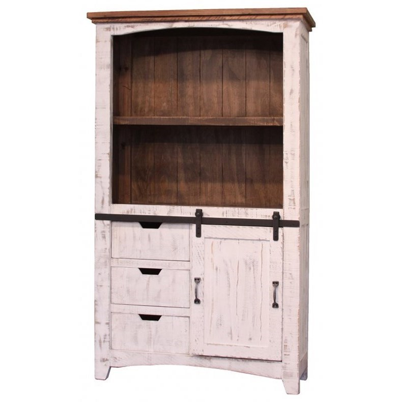 "Pueblo 70"" Bookcase by International Furniture Direct at Gill Brothers Furniture"