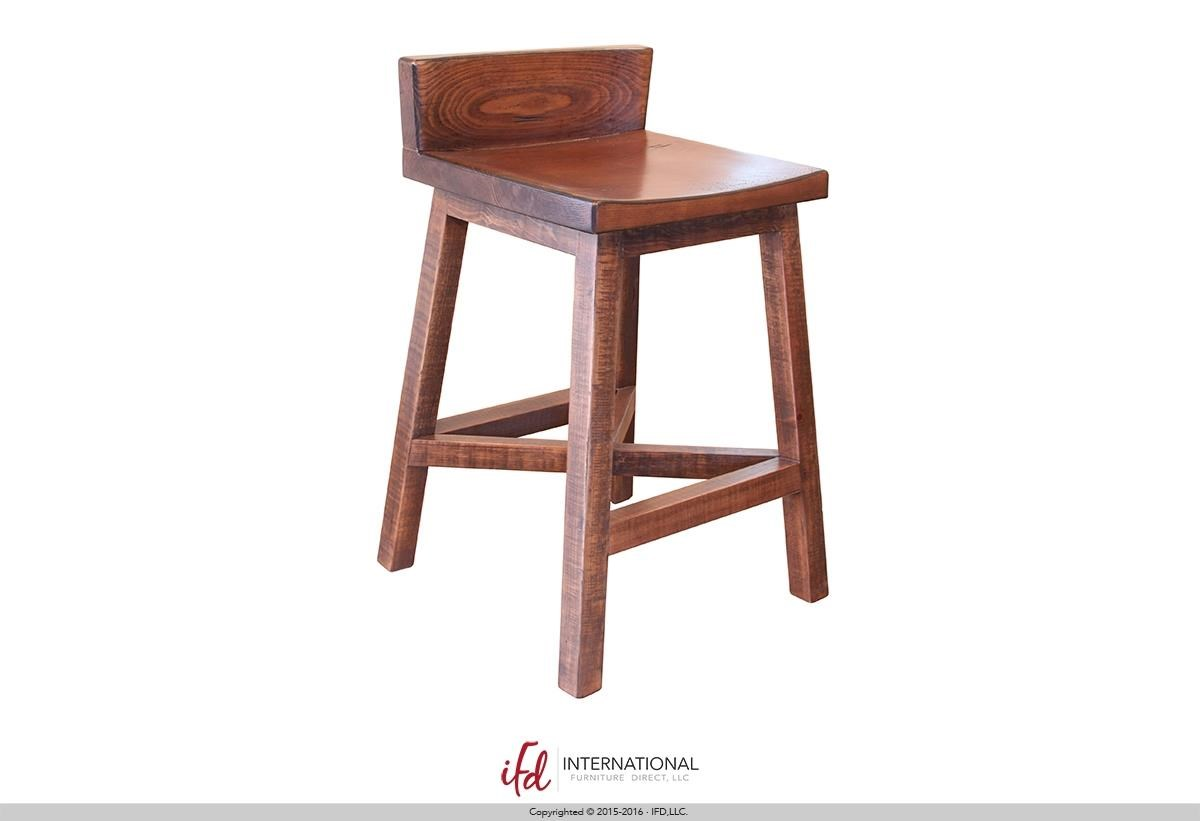 "Pueblo 24"" Stool by International Furniture Direct at Dunk & Bright Furniture"
