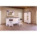 International Furniture Direct Pueblo Solid Wood Bar Stool