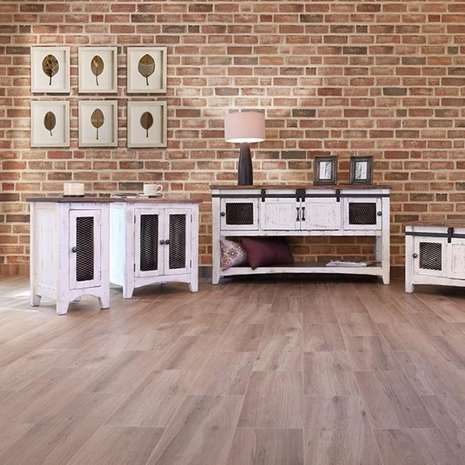 Great Furniture Stores: International Furniture Direct Pueblo IFD360END-W Rustic