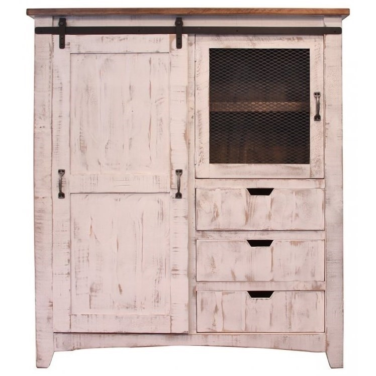 Pueblo Gentleman's Chest by International Furniture Direct at VanDrie Home Furnishings