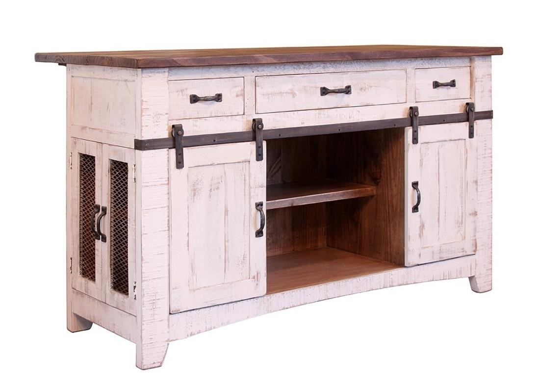 Pueblo Kitchen Island by International Furniture Direct at Coconis Furniture & Mattress 1st