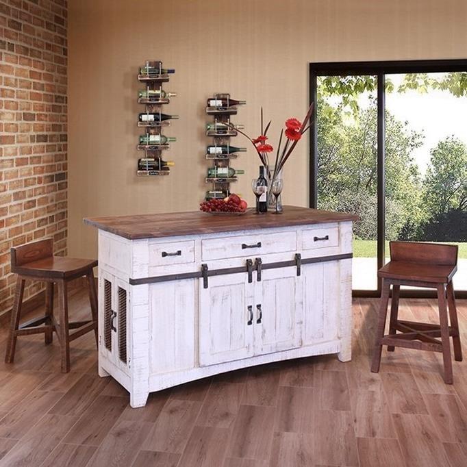 Like Furniture Kitchen Islands: International Furniture Direct Pueblo IFD360ISLAND Kitchen