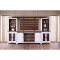 International Furniture Direct Pueblo Rustic Universal Pier with Mesh Metal Door Fronts