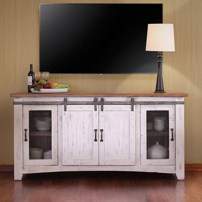 "Pueblo 70"" TV Stand by International Furniture Direct at Pedigo Furniture"
