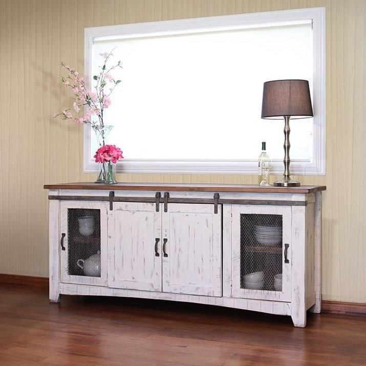 "Pueblo 80"" TV Stand  by International Furniture Direct at Miller Home"