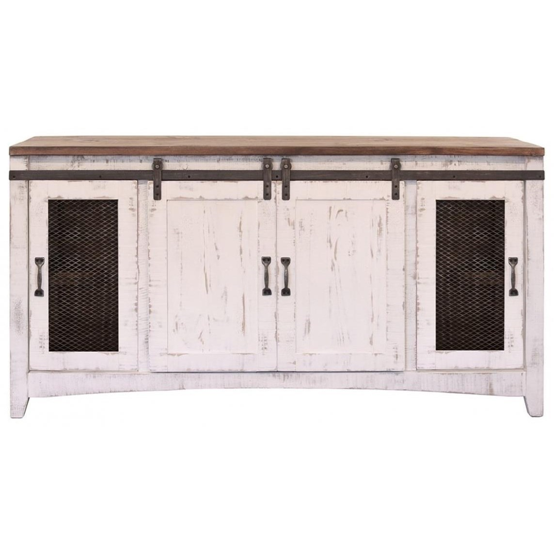 Pueblo TV Stand by International Furniture Direct at Michael Alan Furniture & Design