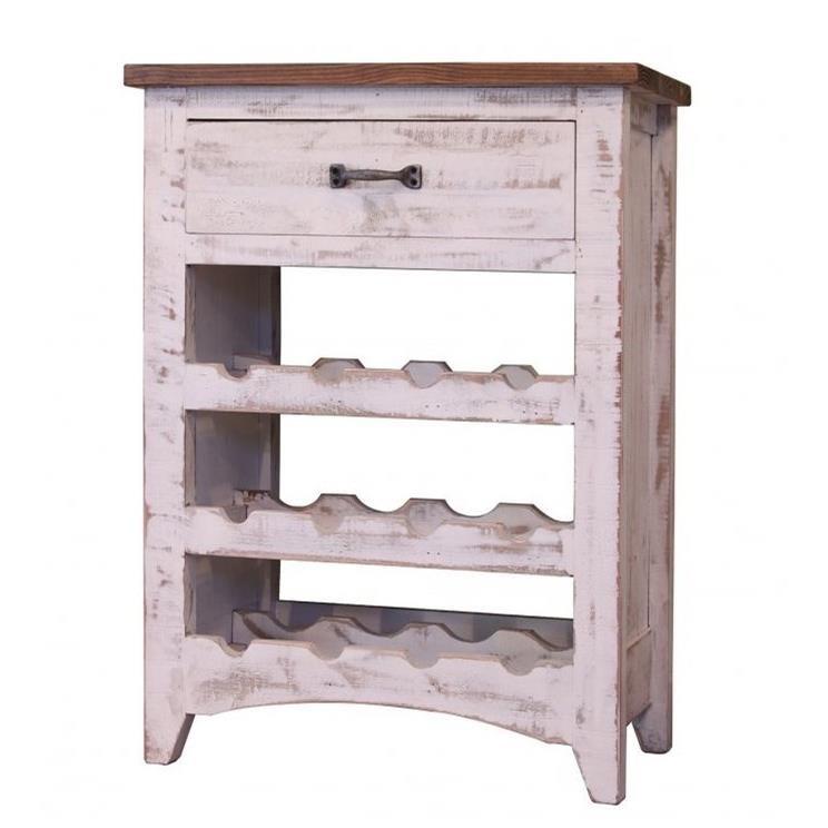 International Furniture Direct Pueblo Wine Rack - Item Number: IFD360WINE