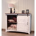 International Furniture Direct Pueblo Rustic Chest with 3 Drawers and 1 Sliding Door