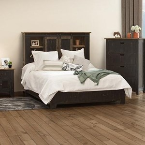 International Furniture Direct Pueblo 6/6 Storage Bed