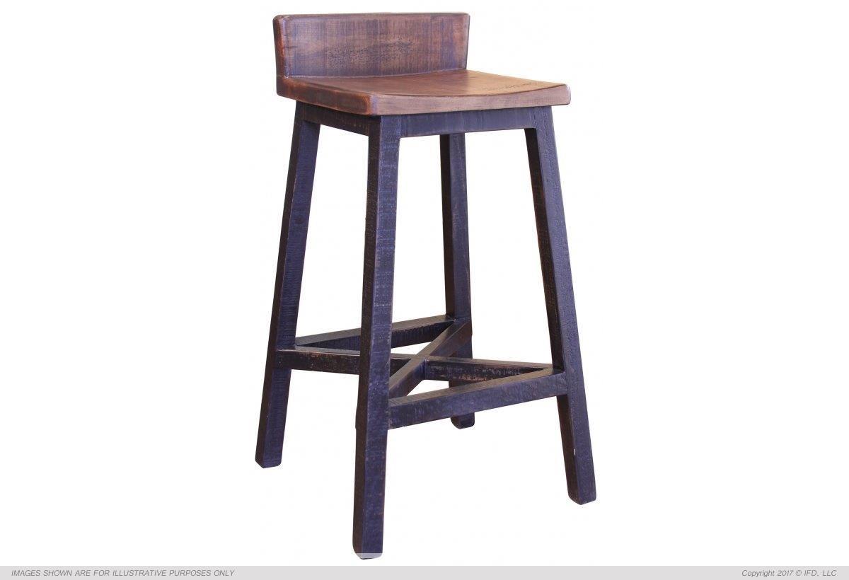"International Furniture Direct Pueblo 30"" Stool - Item Number: IFD370BS30"