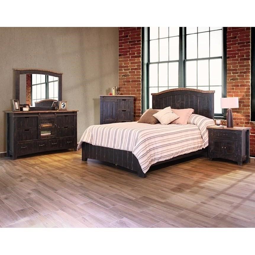 International Furniture Direct Pueblo Mirror With Distressed Frame Zak 39 S Fine Furniture