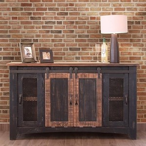 "International Furniture Direct Pueblo Black 60"" TV Stand"