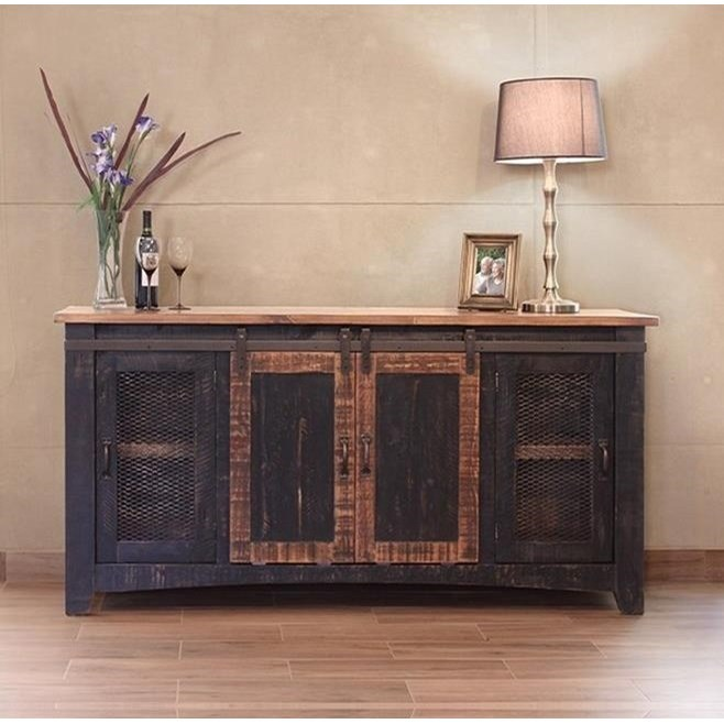"Pueblo 70"" TV Stand by International Furniture Direct at Upper Room Home Furnishings"