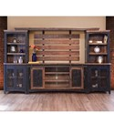 International Furniture Direct Pueblo Wall Unit with Distressed Finish