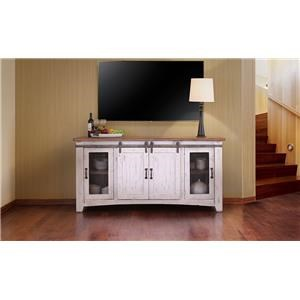 "International Furniture Direct PUEBLO WHITE 70"" TV Stand"