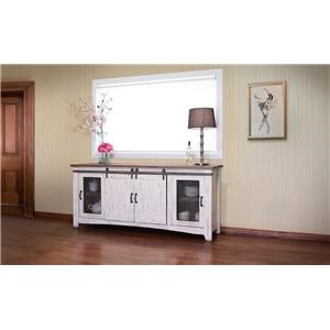 "International Furniture Direct PUEBLO WHITE 80"" TV Stand"